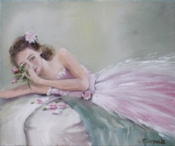 """Original Painting on Canvas -""""Smell The Roses"""" - Postage is included Australia Wide"""