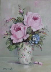 "Original Painting on Canvas -""Floral Display"" - Postage is included Australia Wide"