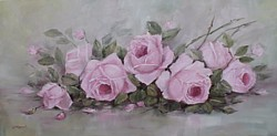 "Original Painting - ""Romantic Roses"" - Postage is Included Australia Wide"