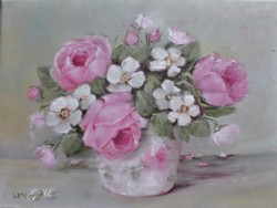 "Original Painting on Canvas - ""Floral Still Life"" - Postage is included Australia Wide"
