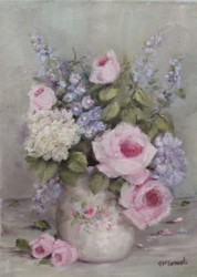 """Original Painting on Canvas - """"Floral Study"""" - Postage is included Australia Wide"""