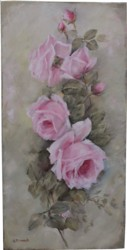 Original Painting on Canvas - Vintage Rose Study - Postage is included Australia Wide