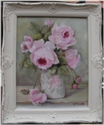 "Original Painting - ""Rose Blooms"" - Postage is included Australia wide"