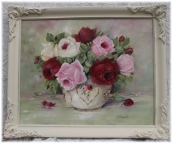 Original Painting - Assorted Rose Blooms - Postage is included in the price Australia wide