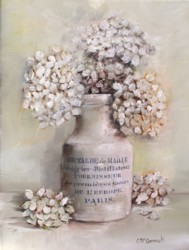 "Original Painting on Canvas -""Hydrangeas in a French Pot"" - Postage is included Australia Wide"