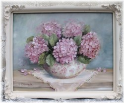 Original Painting - Pink Hydrangeas - Postage is included Australia Wide