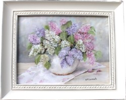 Original Painting - Lilacs - Postage is included Australia Wide