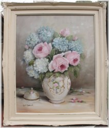 Original Painting - Roses & Hydrangeas - Postage is included in the price Australia wide
