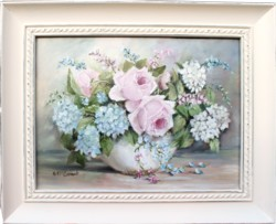 Original Painting - Favourtie Blooms - Postage is included Australia Wide