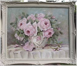 Original Painting - Assorted Pink Blooms - Postage is included in the price Australia wide