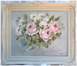 Original Painting - Vintage Rose Study - Postage is included Australia Wide