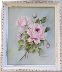 Original Painting - Vintage Pink Rose Study - FREE POSTAGE Australia wide