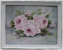 Original Painting - Laying Roses - FREE POSTAGE Australia wide