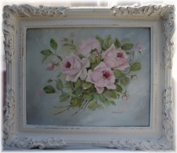 Original Painting - Vintage Roses - Postage is included Australia Wide