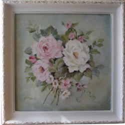 "Original Painting - ""Vintage Inspired Florals"" - Postage is included Australia wide"
