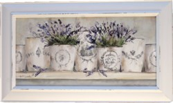 Original Painting - French Pots of Lavender - Postage is included Australia wide