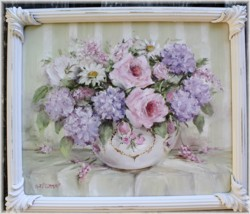 Original Painting - Flower Arrangement in a Bowl - Postage is included Australia wide