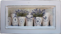 Original Painting on a Timber Panel - French Pots of Lavender - Postage is included Australia wide