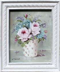 "Original Painting - ""Flowers in a China Vase"" - Postage is included Australia wide"