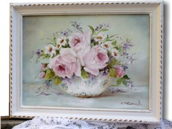 "Original Painting - ""Flowers in a Bowl"" - Postage is included Australia wide"