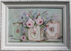 "Original Painting - ""Vintage Tin Trio"" - Postage is included Australia wide"