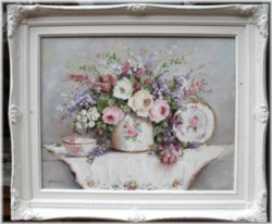 Original Painting - Roses and Blooms - Postage is included in the price Australia wide