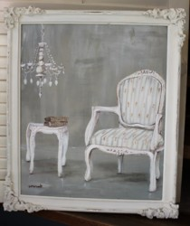 Original Painting - The French Room - Postage is included in the price Australia wide