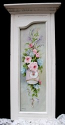 Original Painting - Flowers in a Hanging Vintage Tin - Postage is included in the price Australia wide