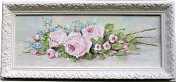 Original Painting - Resting Roses and Flowers - Postage is included in the price Australia wide