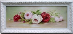 Original Painting - Laying Assorted Roses - Postage is included in the price Australia wide
