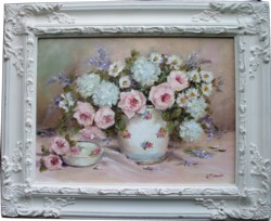 Original Painting - Still Life Blooms - Free Postage Australia Wide