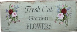 Original Painting on an Old Timber Panel - Fresh Cut Garden Flowers - Postage is included in the price Australia wide