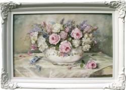 Original Painting - Still Life Roses & Blooms - Free Postage Australia Wide