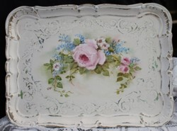 Original Painting on a decorative vintage tray - Postage is included in the price Australia wide