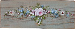 Hand Painted Wooden Panel - Free Postage Australia Wide