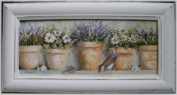 Original Painting - Potted Flowers - Postage is included in the price Australia wide