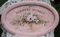 Original Painting - Floral Farmers Market - Postage is included in the price Australia wide