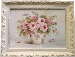 Original Painting - Flower Arrangement in a Pretty Vase - Postage is included in the price Australia wide