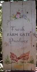 Original Painting on Old Rescued Gate Panel - Postage is included Australia wide