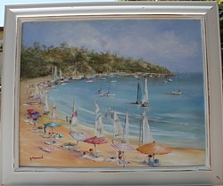 SOLD-Original Painting - Mornington Peninsula Beach Day - Postage is included in the price Australia wide