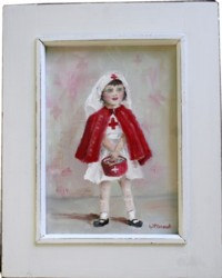 Original Painting - Playing Dress Ups....The Nurse - Postage is included in the price Australia wide