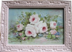 Original Painting - Laying Flowers - Postage is included in the price Australia wide