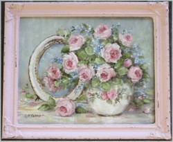 Original Painting - Rose Reflections - Postage is included in the price Australia wide