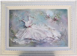 Original Painting - Flower Gown - Postage is included in the price Australia wide