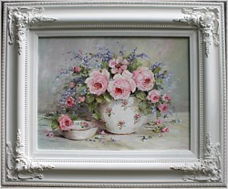 Sold-Original Painting - Late Summer Flowers - Postage is included in the price Australia wide