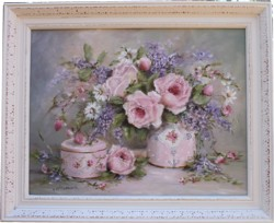 Original Painting - Late Summer Arrangement - Postage is included in the price Australia wide