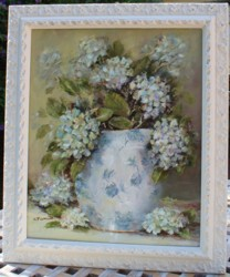 Original Painting - Hydrangeas in a Jug - Postage is included in the price Australia wide