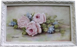 Original Painting - Laying Autumn Roses - Postage is included in the price Australia wide