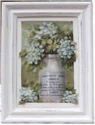 Mixed Media/Original Painting - French Pot with Hydrangeas - SOLD out