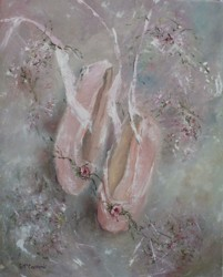 Original Painting on Canvas - Ballet Shoes - SOLD OUT